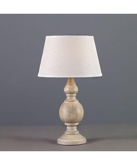 Wood bordlampe (u/skjerm), høyde 30 cm